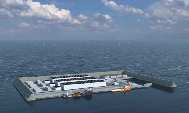 Denmark strikes deal on £25bn artificial wind energy island
